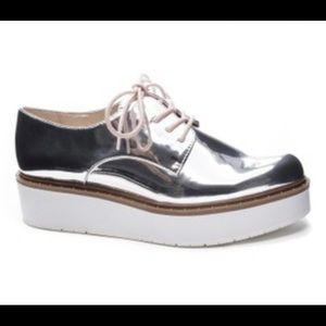 Chinese Laundry Cecilia Oxford Silver Shoes